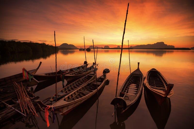 Barco por muito tempo atado de Andaman imagem de stock royalty free