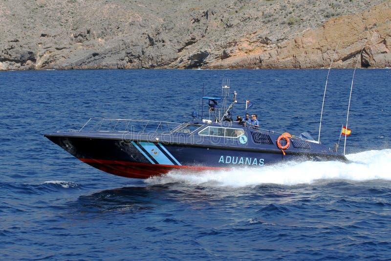 Barco rápido do serviço espanhol de alfândega fotos de stock royalty free