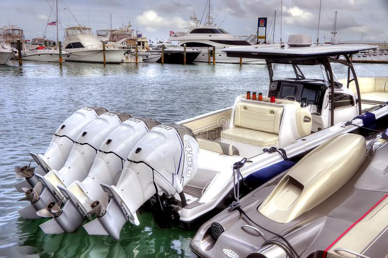 Barco RÁPIDO em Key West foto de stock royalty free