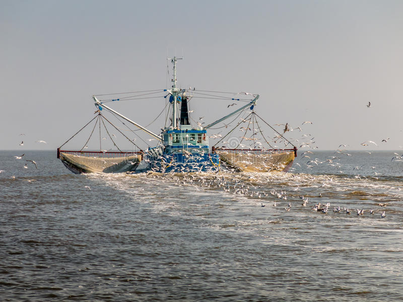 Barco rastreador de la pesca, Holanda fotos de archivo libres de regalías
