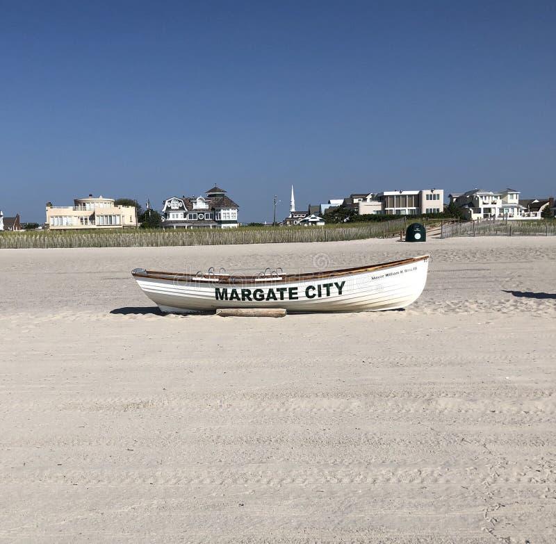 Barco a remos da cidade de Margate fotografia de stock