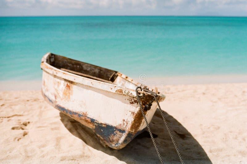 Barco a remos do Cararibe foto de stock