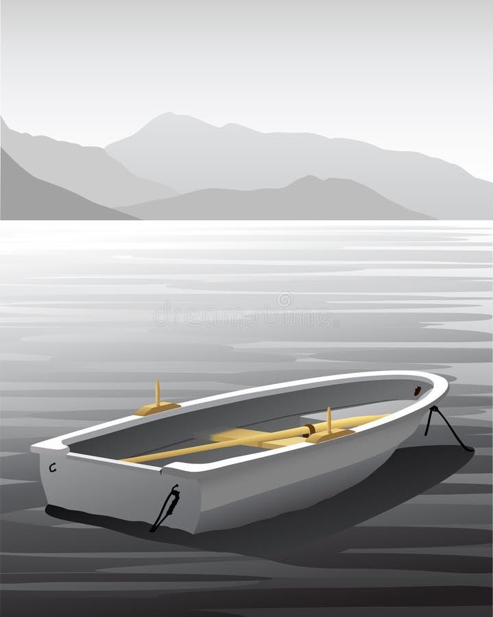 Barco a remos do vetor ilustração stock