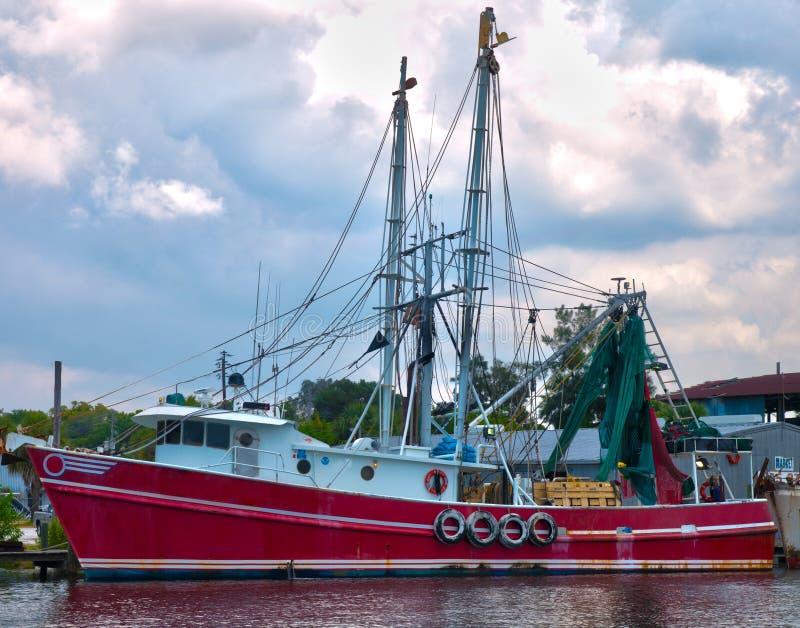 Barco rojo HDR del camarón fotografía de archivo