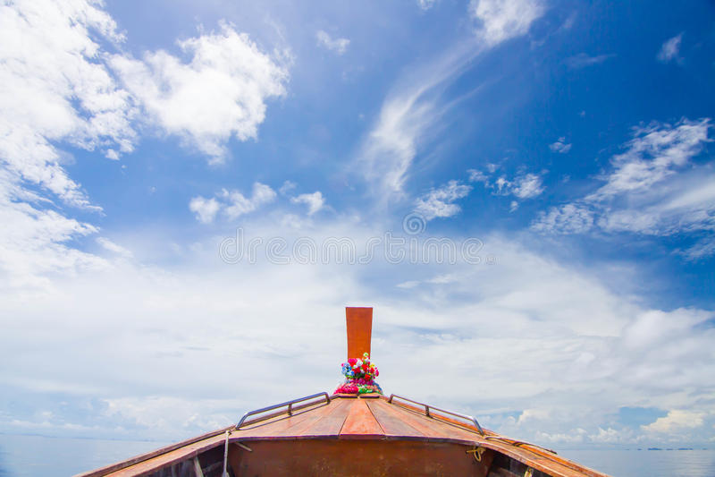 Barco sozinho imagem de stock