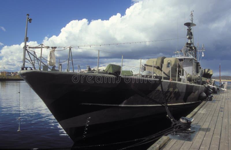 Barco sueco velho do míssil no museu naval de Karlskrona fotos de stock royalty free