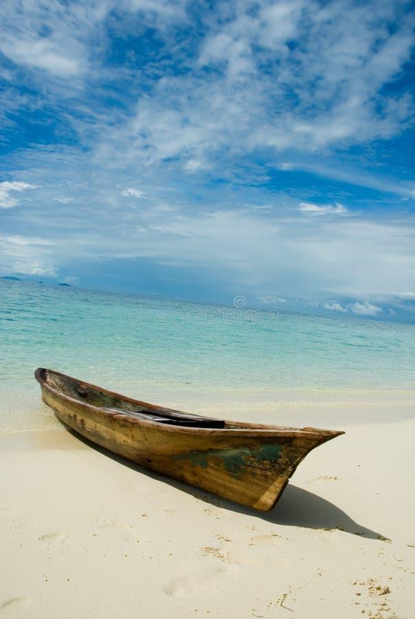 Barco tradicional de los gitanos del mar foto de archivo libre de regalías