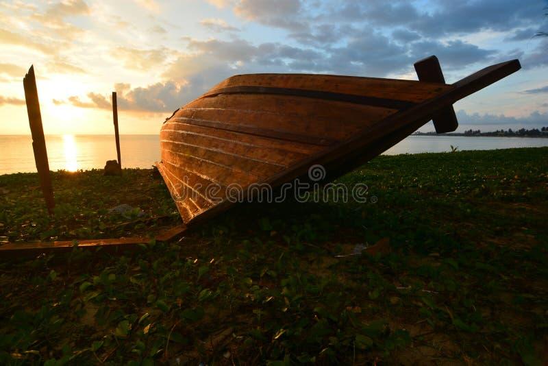 Barco tradicional Natuna Indonesia fotos de archivo libres de regalías