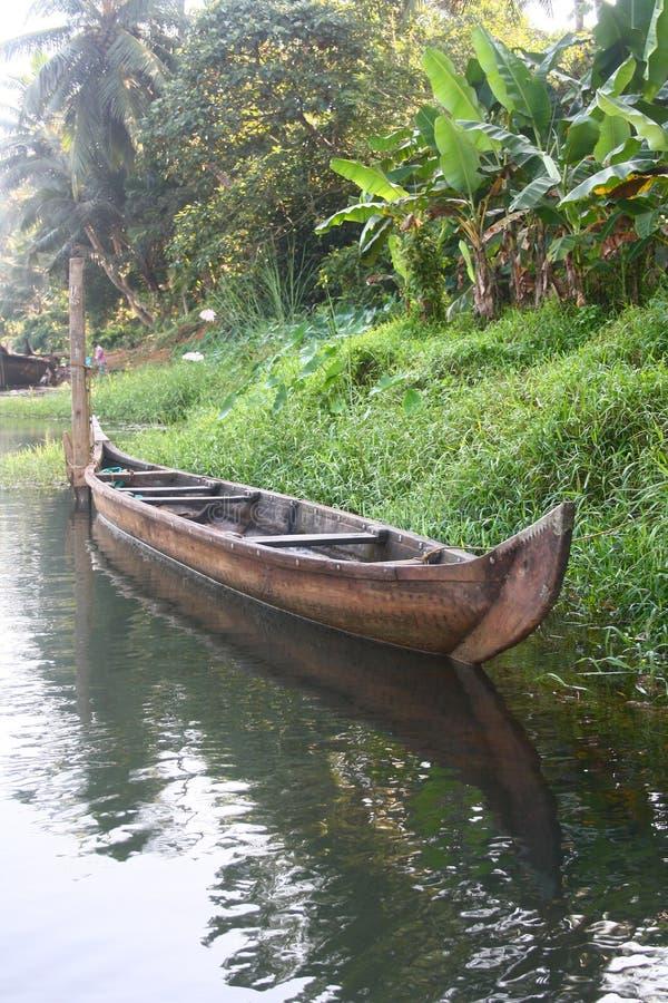 Barco vazio do país de Kerala imagens de stock royalty free