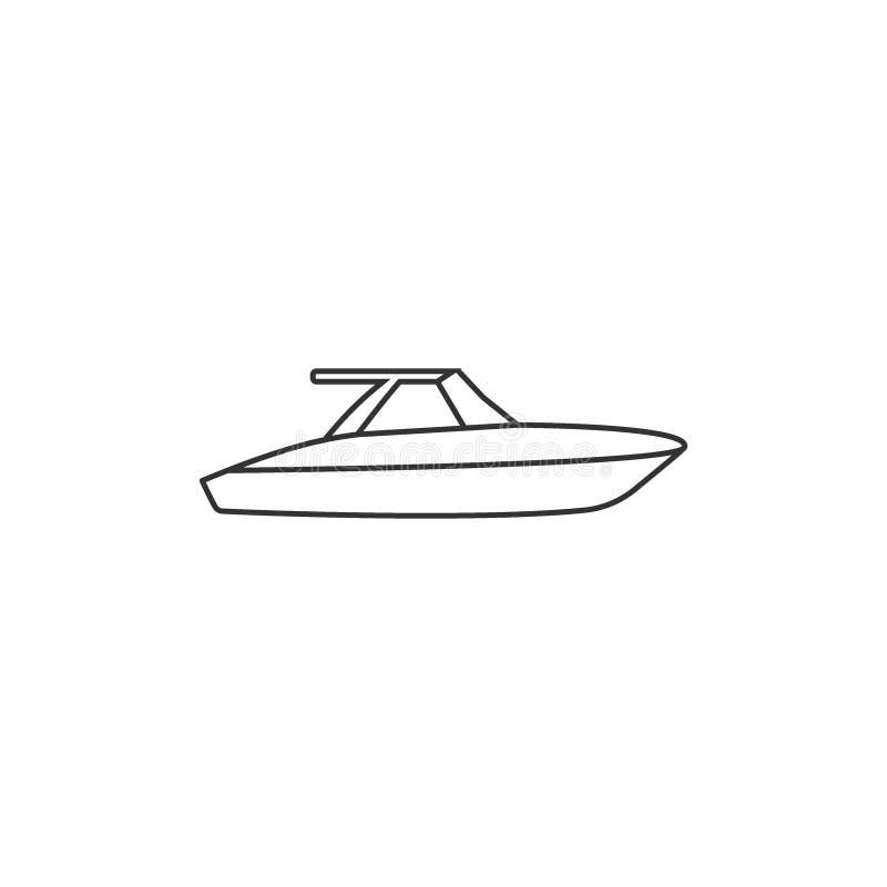Barco, vela, navigação, navio, ícone do iate Ilustra??o do vetor, projeto liso ilustração do vetor