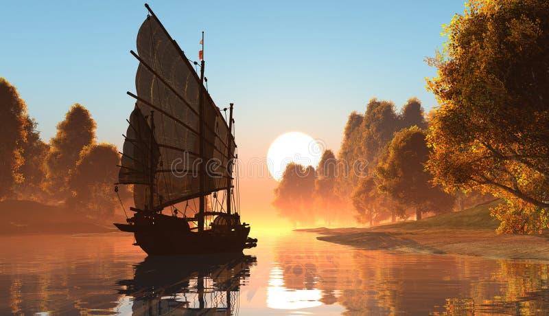 Barco velho ilustração royalty free