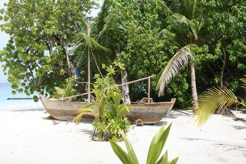 Barco velho de Maldivas foto de stock royalty free