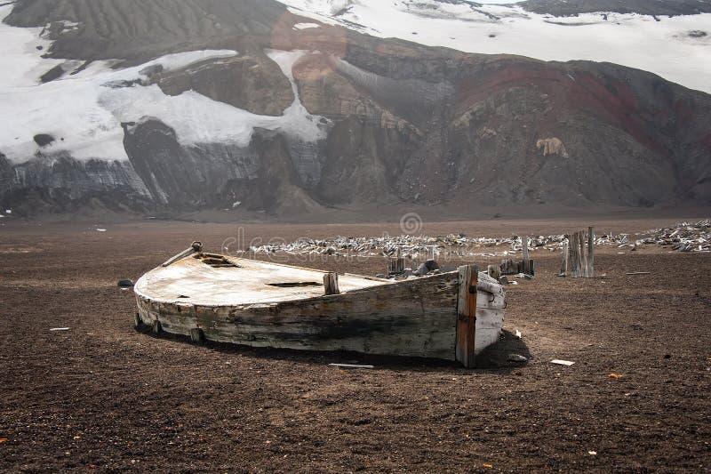 Barco velho no console da decepção fotografia de stock