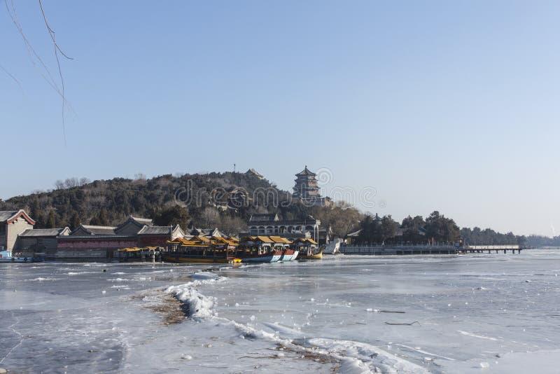 Barco y colina de mármol de la longevidad fotos de archivo