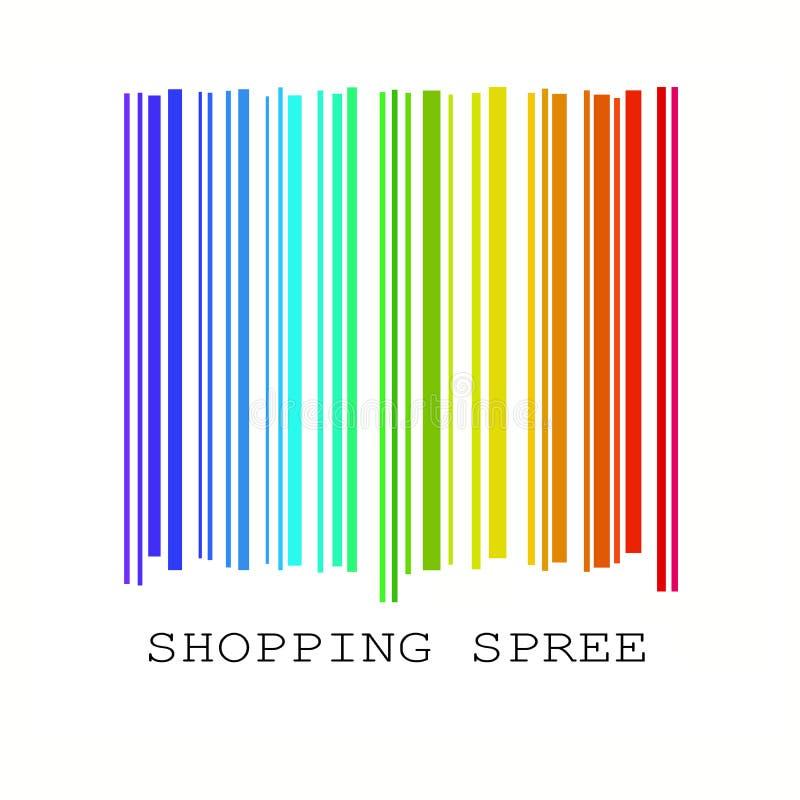 barcode красит радугу иллюстрация вектора