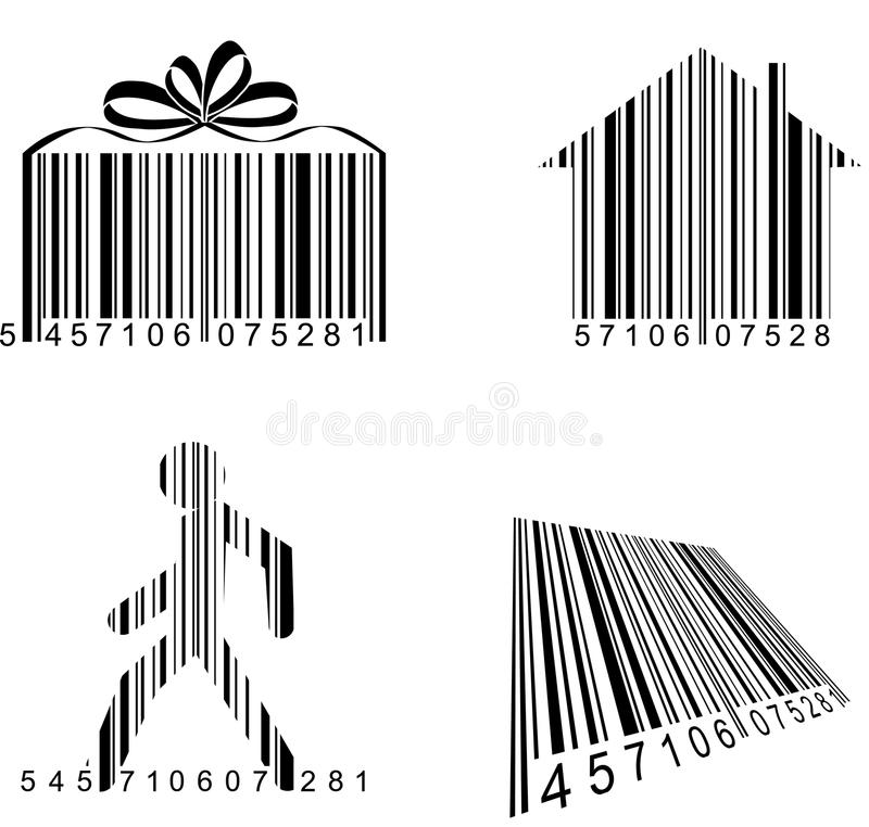 barcode vektor illustrationer