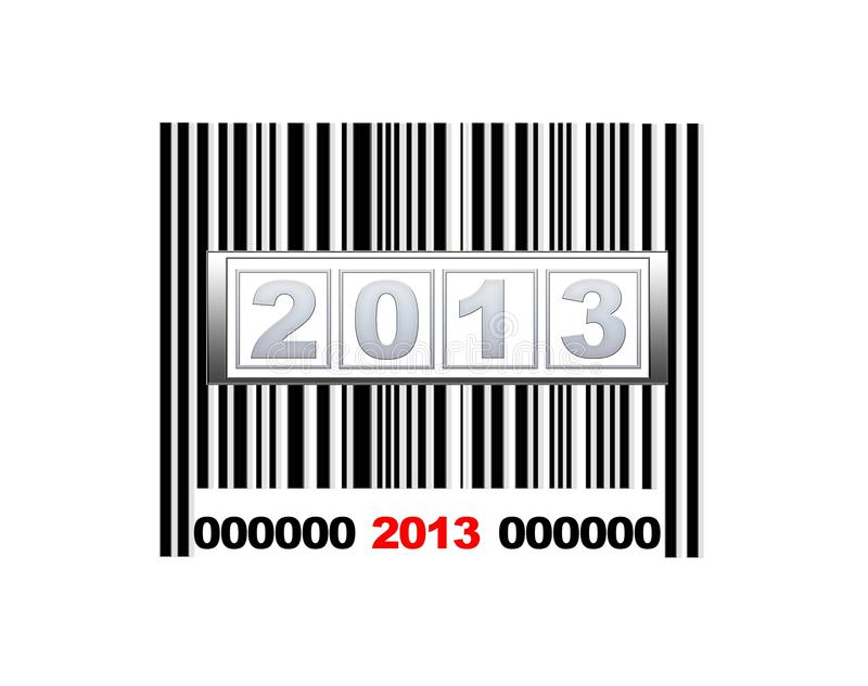 Barcode 2013. royalty free illustration