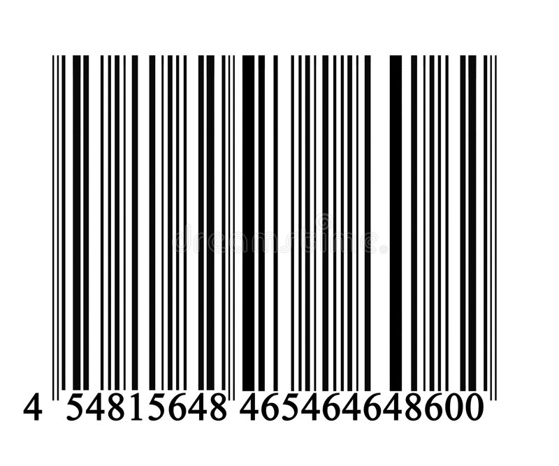 Barcode. On solid white background royalty free illustration