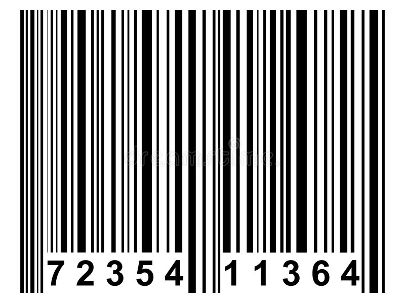 barcode vektor illustrationer