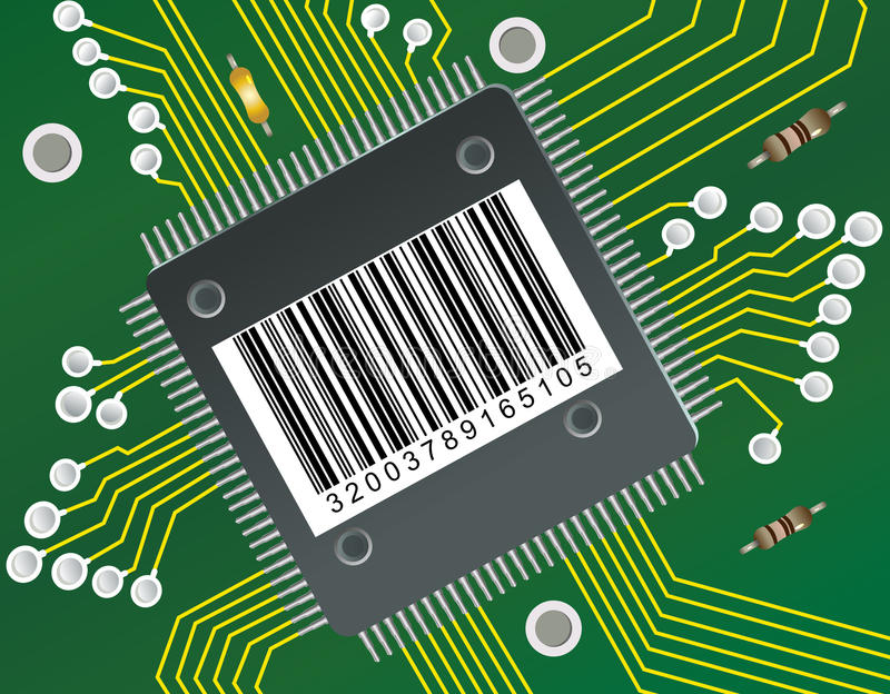 Download BarCode Circuit stock illustration. Illustration of circuit - 17926123