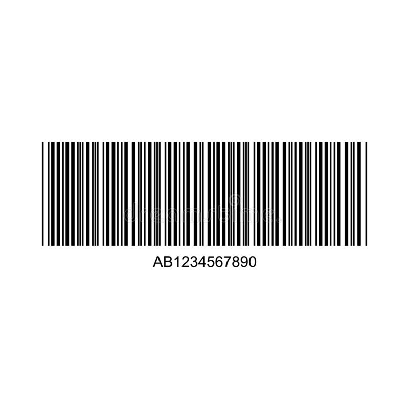 Barcode or Code Isolated on a Background. Vector royalty free illustration