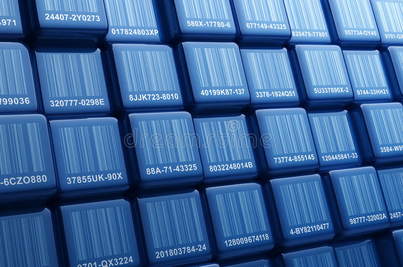 Barcode Cubes vector illustration