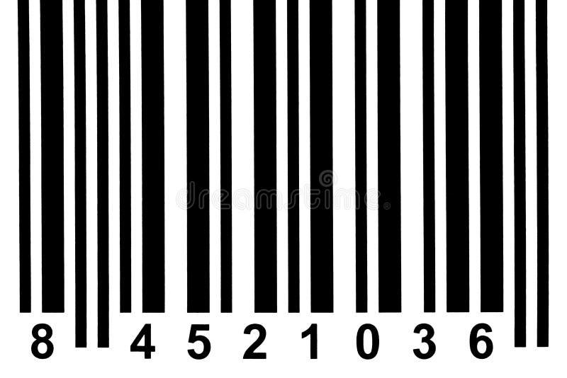 Barcode detail. Close up of a barcode stock photos