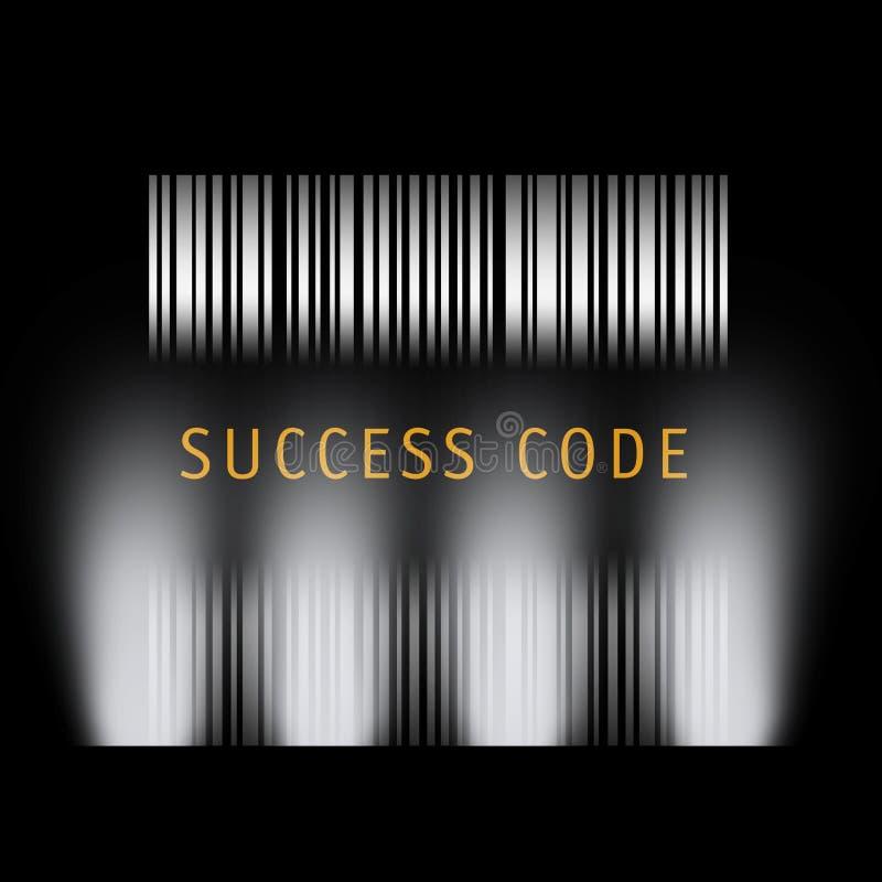 Barcode-Erfolg lizenzfreie abbildung