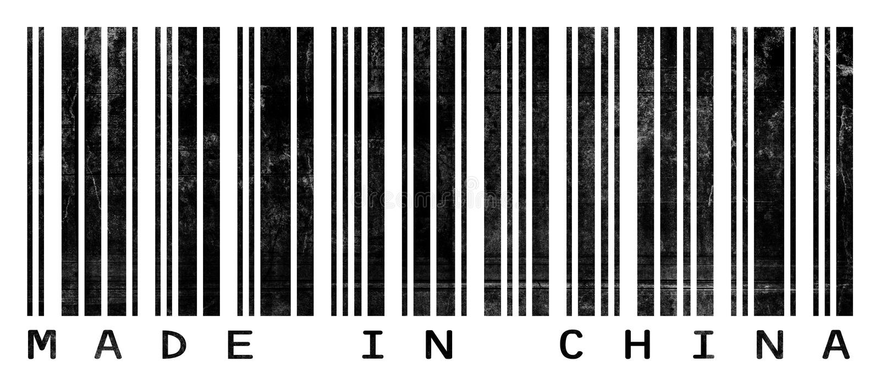 barcode grungy porcelanowy robić royalty ilustracja