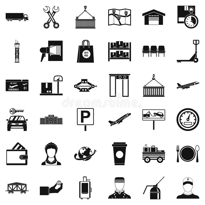 Barcode icons set, simple style. Barcode icons set. Simple style of 36 barcode vector icons for web isolated on white background vector illustration