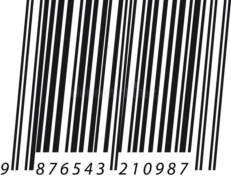 Download Barcode italic stock vector. Image of horizontal, numbers - 19059247
