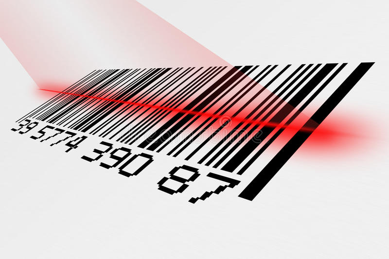 Barcode with laser stock photos