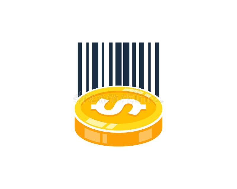 Barcode loga ikony Menniczy projekt ilustracji