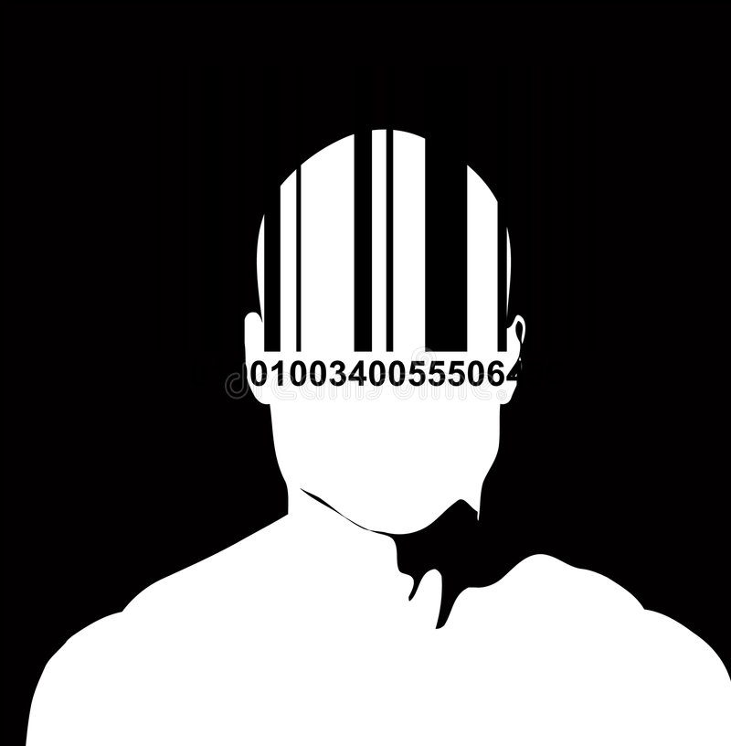 Download Barcode And Man 3 stock illustration. Illustration of codenumber - 3849445