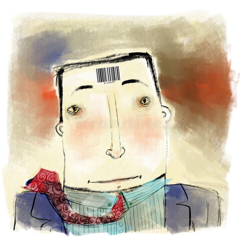 Barcode man royalty free illustration