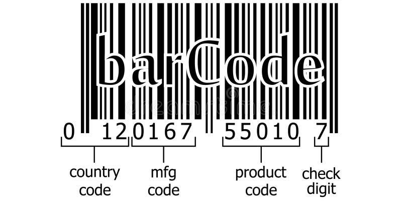 Barcode odszyfrowywa numerycznego kod royalty ilustracja