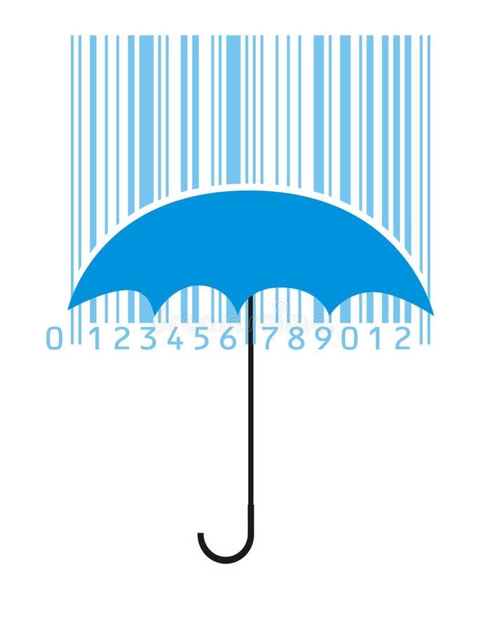Download Barcode parasol ilustracja wektor. Ilustracja złożonej z pudełko - 13338388