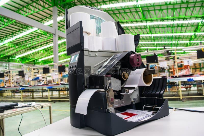 Barcode Printer stock photo