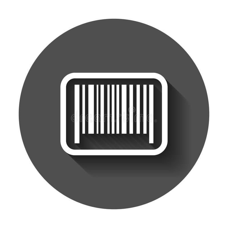 Barcode produktu dystrybuci ikona Wektorowa ilustracja z długim ilustracji