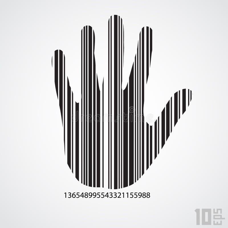 Barcode ręka ilustracja wektor