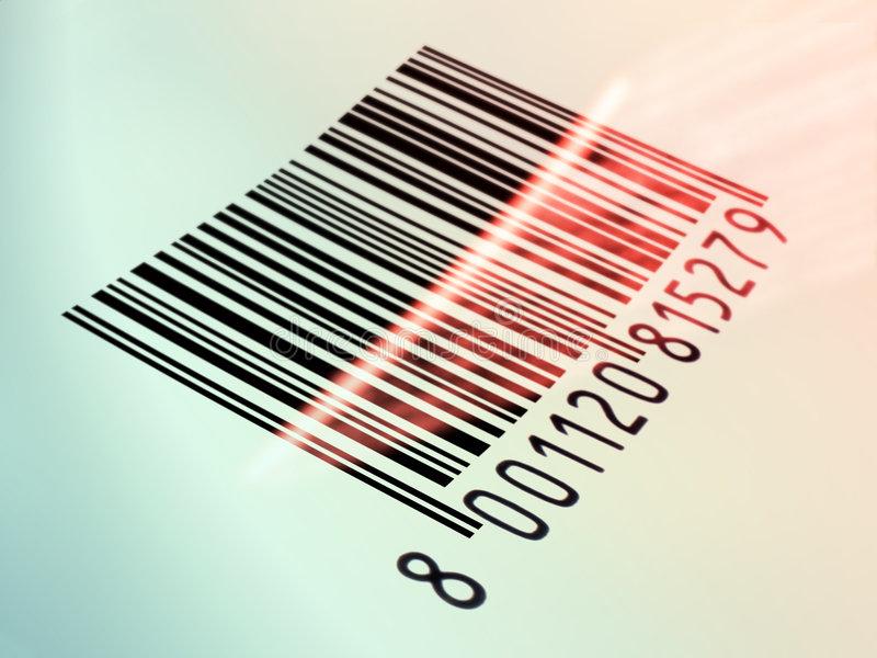 Barcode reading vector illustration