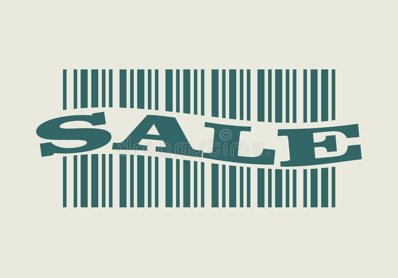 Barcode with sale word royalty free illustration