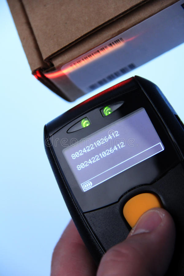 Barcode scanner royalty free stock photos