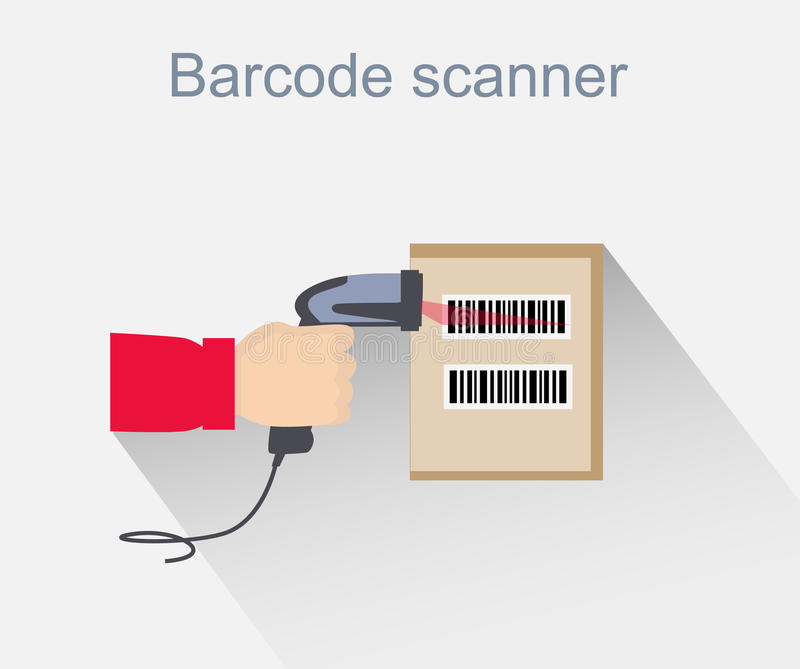 Download Barcode Scanner Icon Design Style Stock Vector