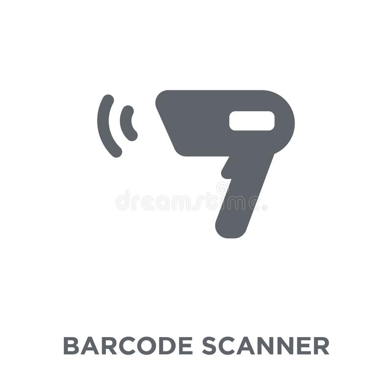 Barcode scanner icon from Electronic devices collection. royalty free illustration