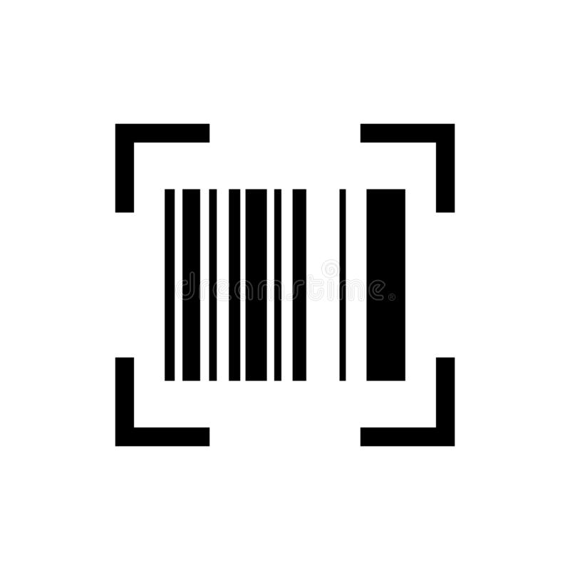 Barcode scanner icon vector for  web and mobile platforms stock illustration