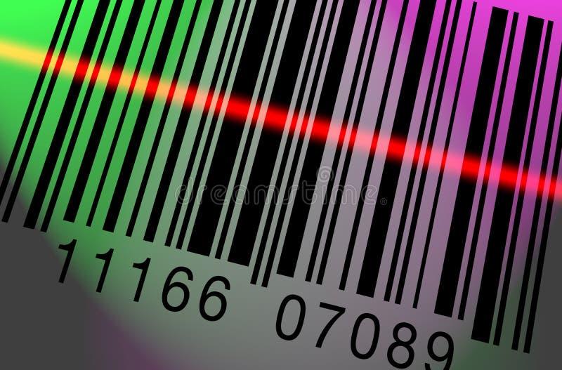 Barcode Scanning Colorful stock illustration