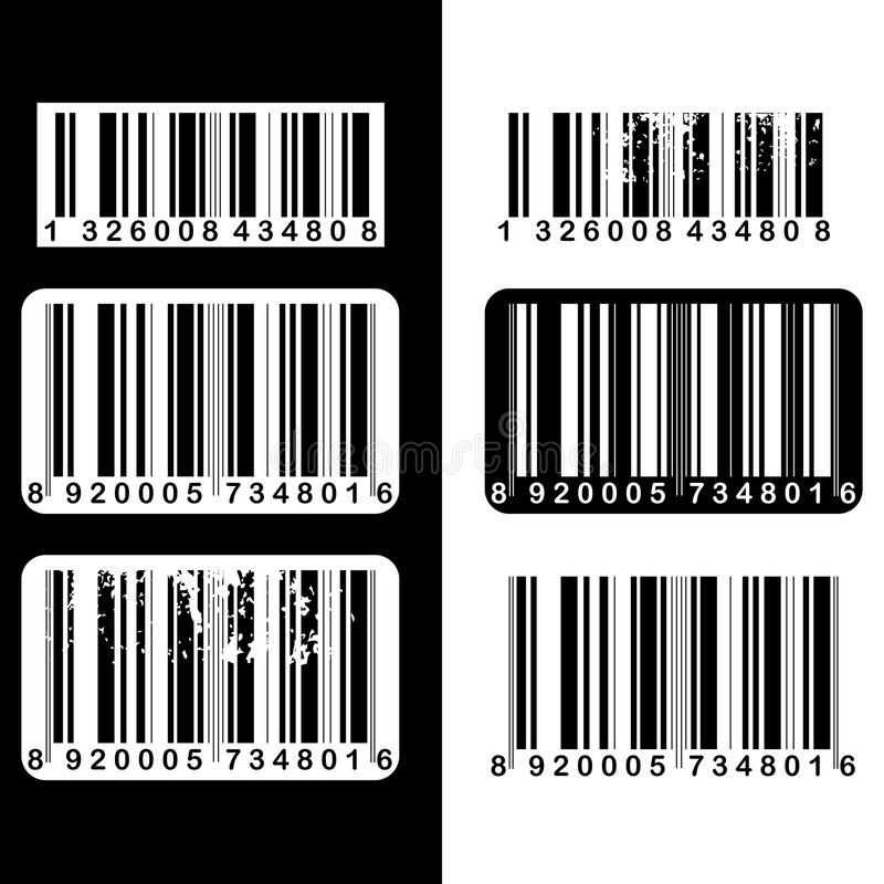Barcode set. Set of six barcode useful as stickers or labels.EPS file available