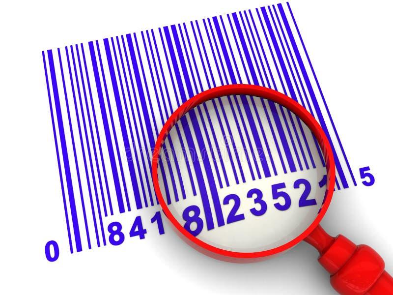 Barcode skanerowanie royalty ilustracja