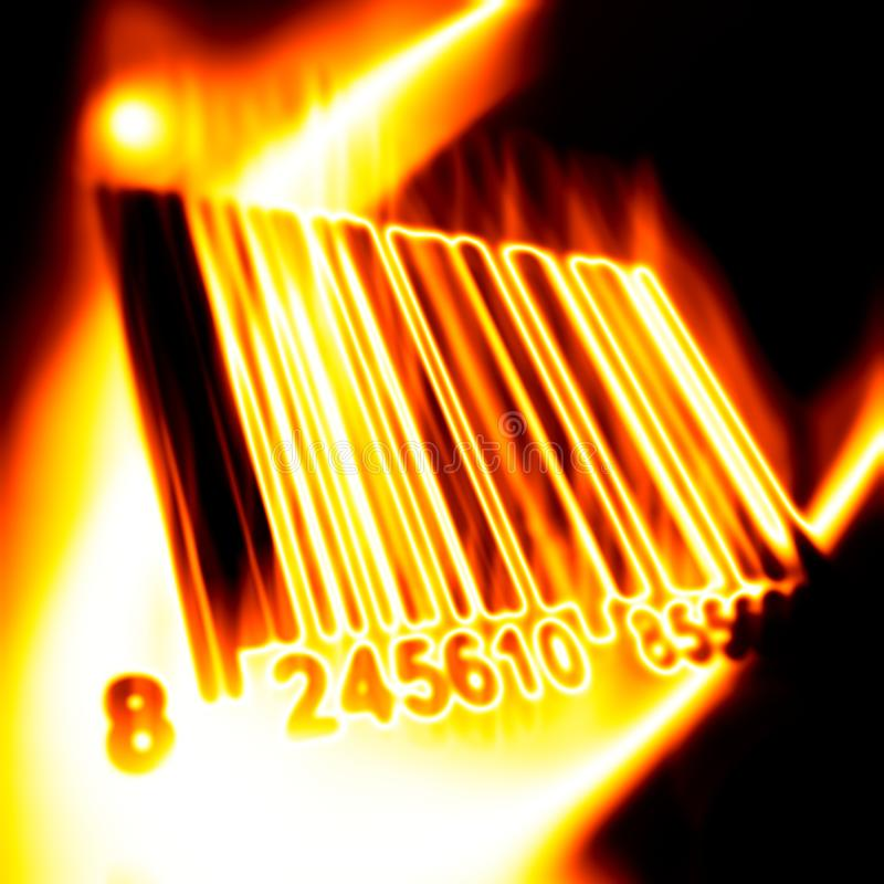 Download Barcode surrounded by fire stock illustration. Image of illustration - 10574658